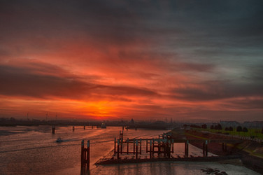 07_CHRIS_ZONSOPKOMSTNIEUWPOORT_HAVEN - C