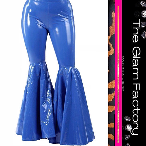 Latex Bell Bottom Pants