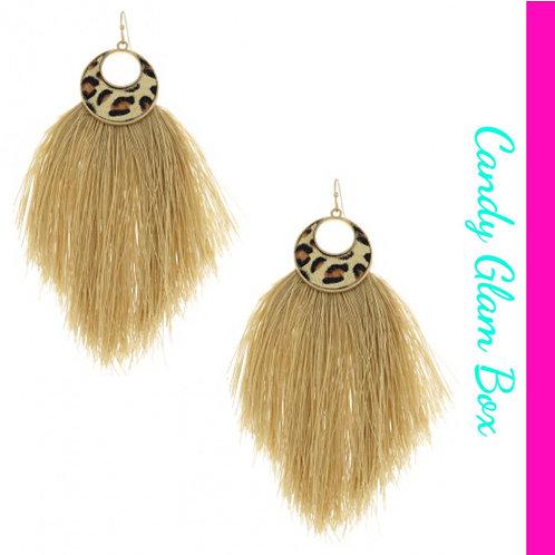 Animal Print Chandelier Earrings