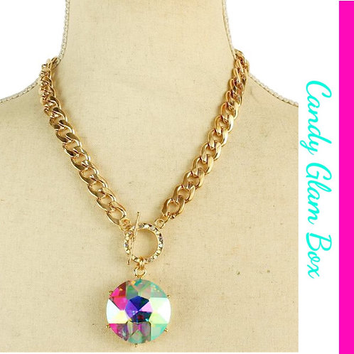 Crystal Round Necklace Set