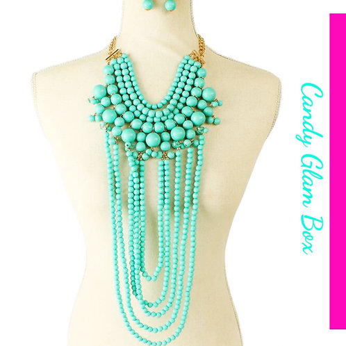 Long Turquoise Necklace Set SOLD OUT