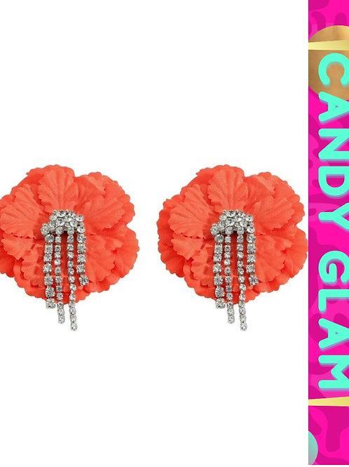 Rosita Floral and Rhinestones Earrings