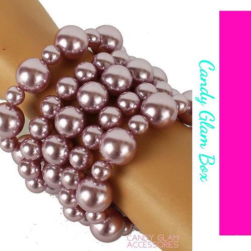 5 Layers Pearl Bracelet Set