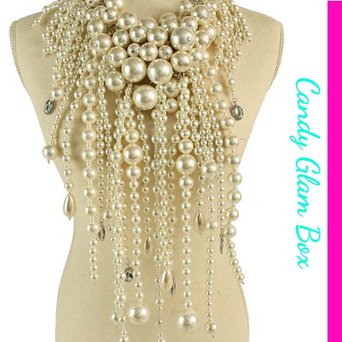 Long Chunky Pearl Set