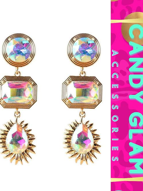Geo Mosaic Gemstone Earrings