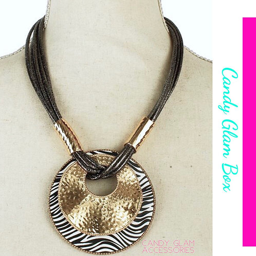 Zebra Necklace Set