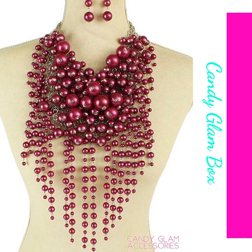 Pearl Extreme Drop Necklace Set