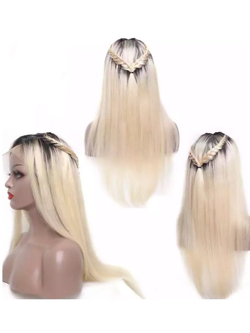 Ombre 1B and Blonde 613 Lace Front Human Hair Wig