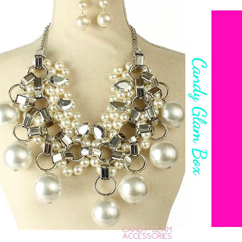 Pearl Drop Extreme Necklace Set