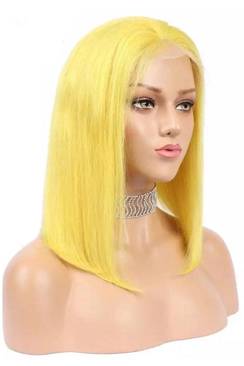 Go Bananas Human Hair Lacefront Bob Wig