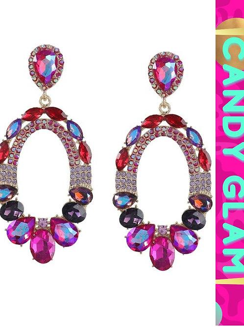 Rosa Gemstone Earrings