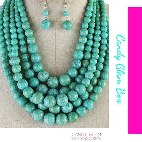 5 Layered Necklace Set