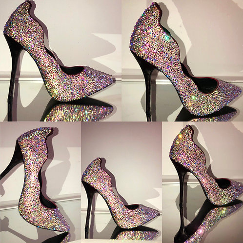 'Cinderella' Full Crystal Pump Heel
