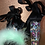Thumbnail: Black Feather x Clear Embellished Heel