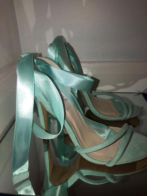 Mint Green Heel x Ankle-Tie