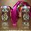 Thumbnail: 'Mermaid Pink' Multicolour Base x Embellished Block Heel