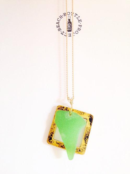 Colgante Ona gold & green