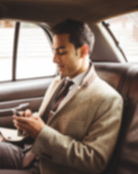 Businessman in a Car