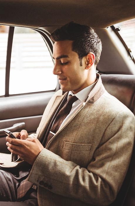 Бизнесмен в автомобиле