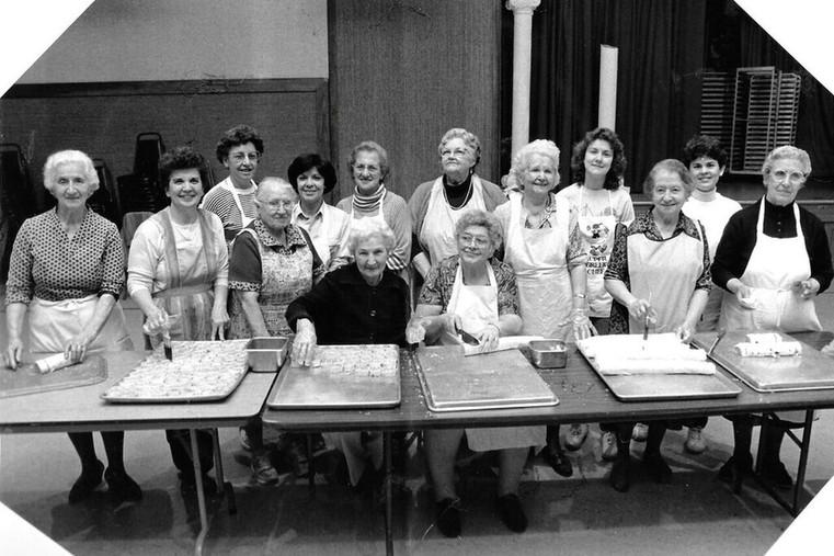 1990s circa. Women preparing food for the Greek festival.jpg