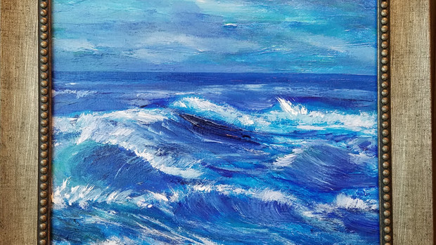 """12x12 """" acrylic on canvas"""