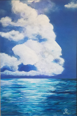 Head in the Clouds 24x36 acrylic