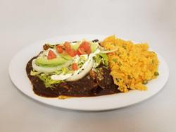 Enchiladas in Mole