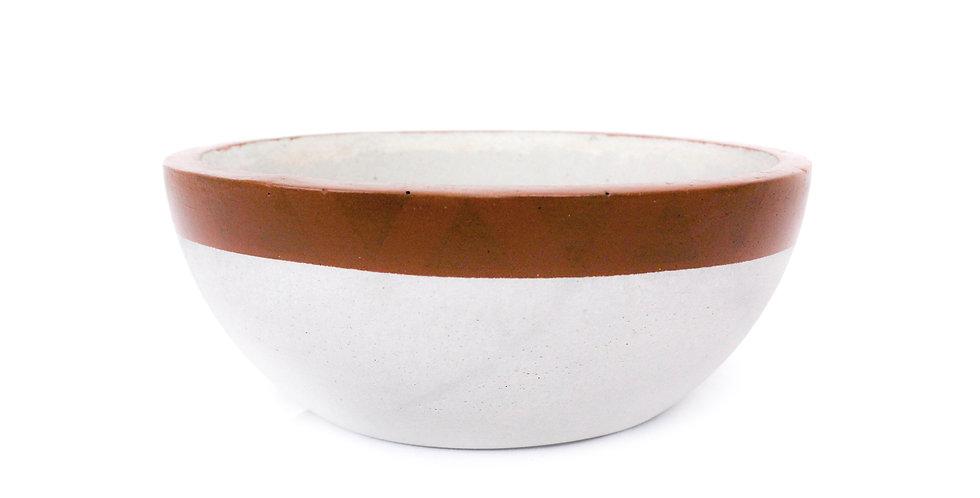 Vaso/Terrário cimento pintado