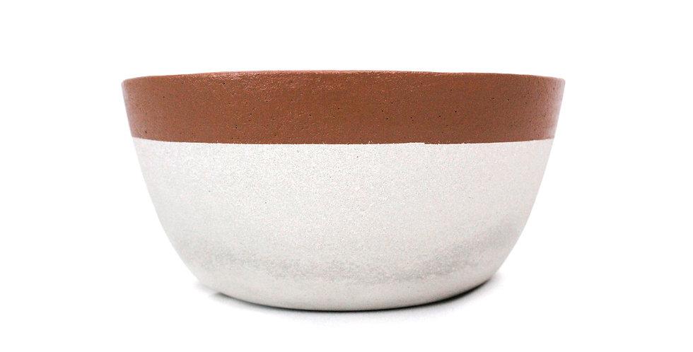 Vaso/Terrário cimento marrom