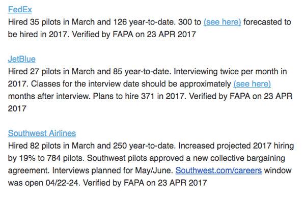 Pilot Hiring Bulletin