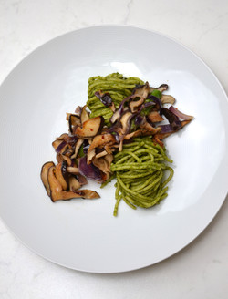 Grilled Shiitake with pesto