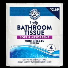 Bath Tissue 1-ply (4 rolls)
