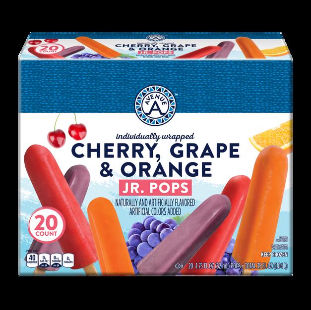 Cherry, Grape & Orange Junior Pops