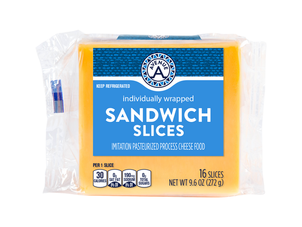 Individually Wrapped  Sandwich Sliced Cheese