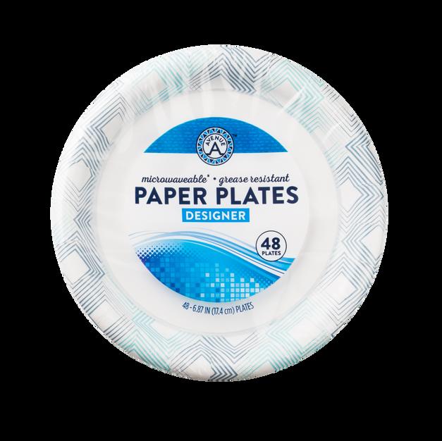Designer Paper Plates (48 count)