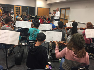 Workshop with Sterling High School Orchestra