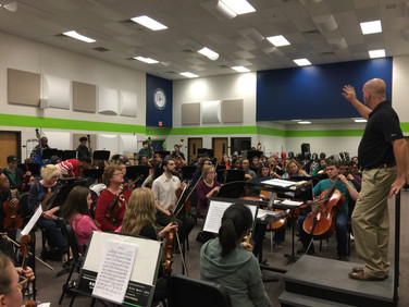 Rehearsal with the Gwinett Youth Symphony