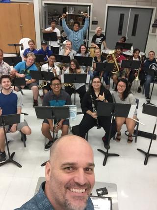 Workshop with Kealakehe High School Band