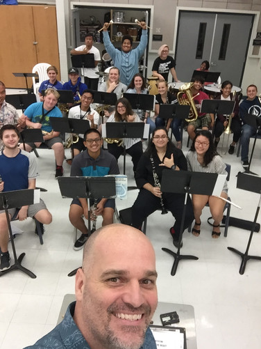 Workshop with Kealakehe High School Band