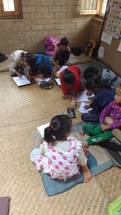 Taught primary school children at Avani