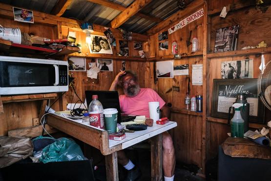 Le manager du port à homard, Maine É-U