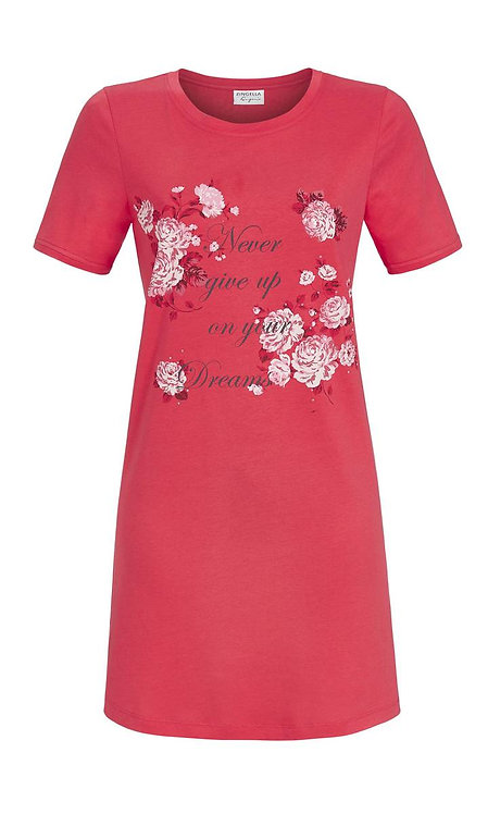 Damen Nachthemd kurzarm  Baumwolle /Modal