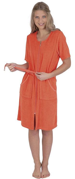 Strandkleid mit Reißverschluss   1/2 Arm aus Frottee