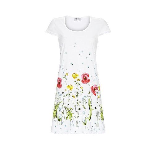 Nachthemd kurzarm von Ringella mit Blumenbordüre