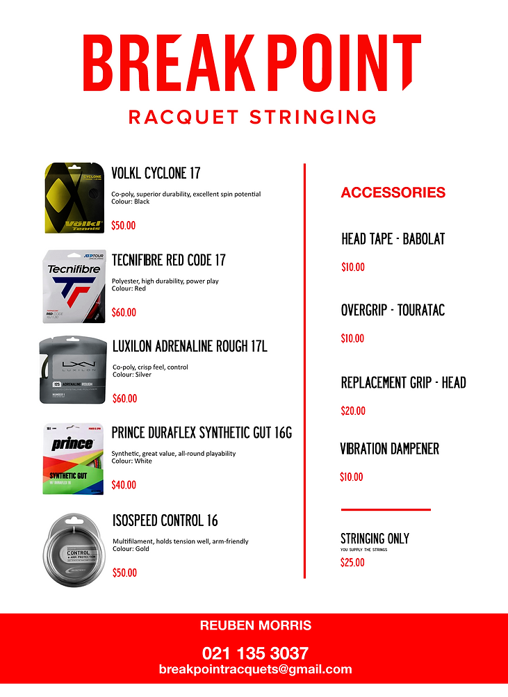 Breakpoint Tennis Racquet Racket String Stringing