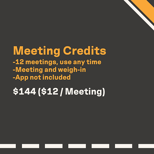 Meeting Credits - Pack of 12