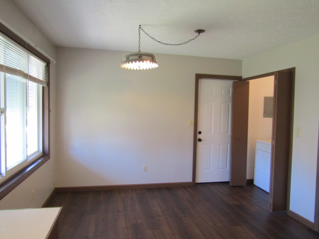 Laundry and side door off dinette.