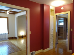 View of dining room & entry