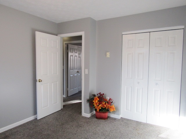 Bedroom end has nice closet space.