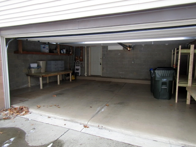 Large 2-car attached garage